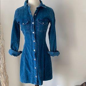 Zara Corduroy dress -Blue size Smalll